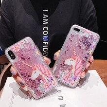 FQYANG Flamingo Einhorn Dynamische Flüssigkeit Quicksand Transparente Telefon Fall Für REDMI HINWEIS 6 PRO 6 6A NOTE5 PRO 5A 5 4X Zurück Abdeckung