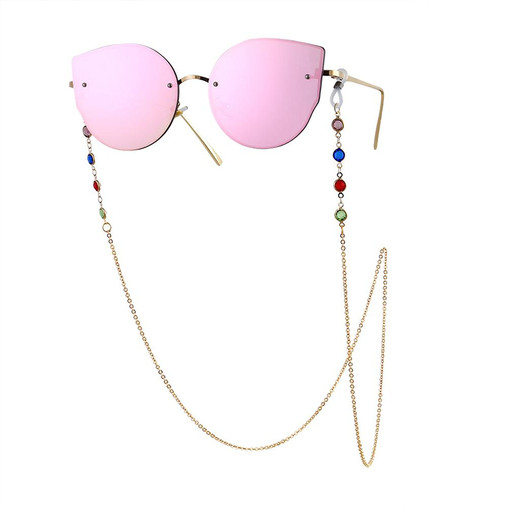 2019 Women Glasses Chain Landyards Fashion Colorful Glass Beaded Sunglasses Holder Women Eyewear Chain Straps Cordon Gafas
