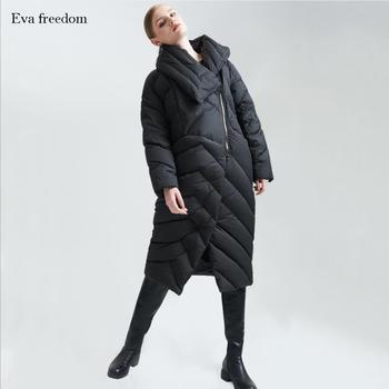 90% duck down warm down Parkas coat winter new fashion brand thicker down jacket women long Asymmetric style down jacket wj1071