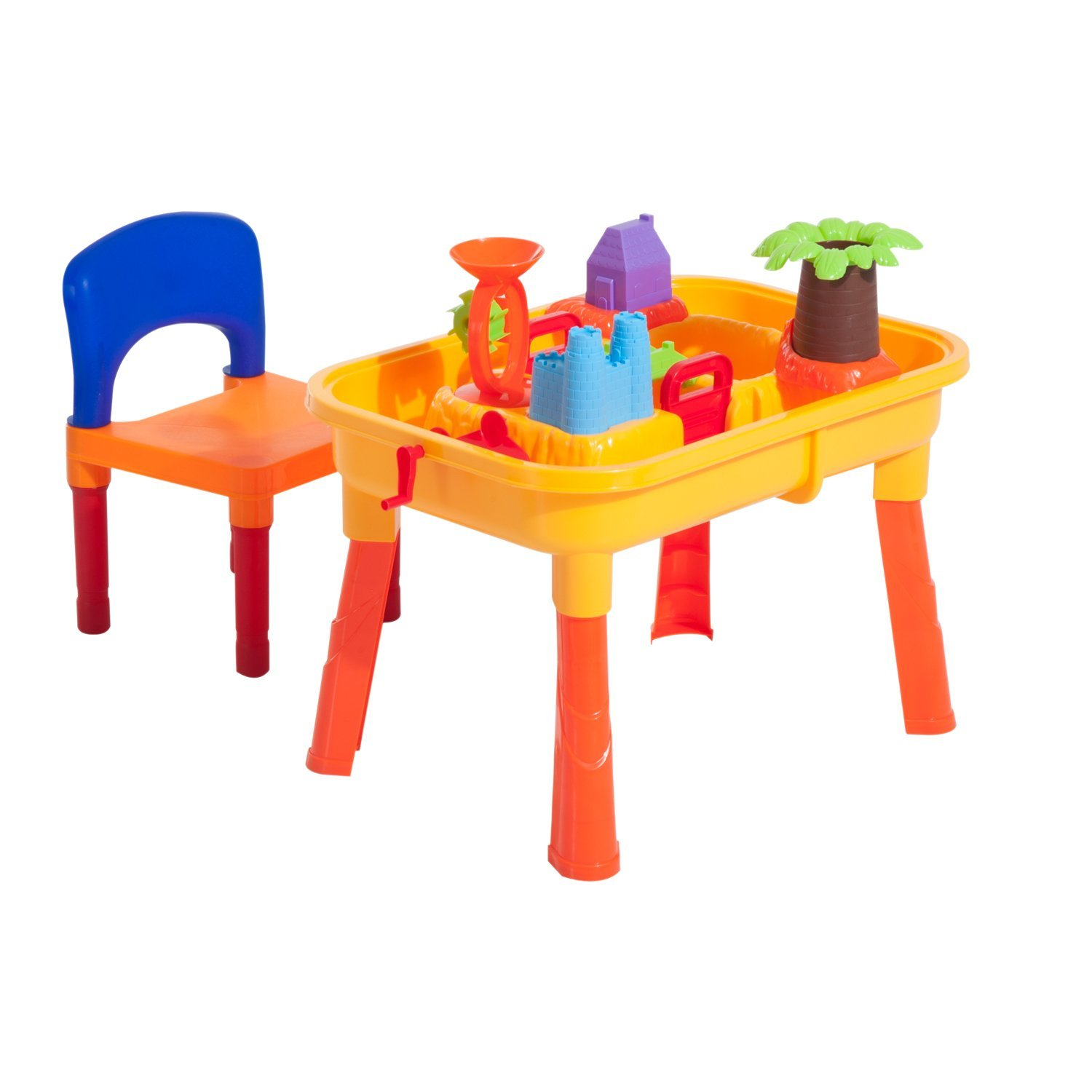 HOMCOM 32 PCs With Table Chair Castle Play Set Cookie Cutters PP 61.5x42x39.3 Cm