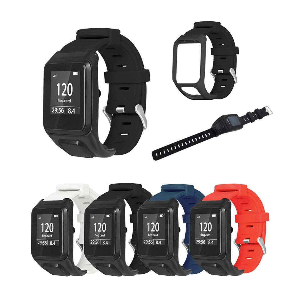 Adjustable Watch Band Silicone Wristband Strap Replacement Accessories For TomTom Runner 2 3 / Spark / Golfer 2 / Adventurer