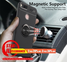 [Clearance] For Xiaomi Redmi Note 4X 4A 6A 5 Y2 S2  Luxury Magnetic Ring Stand Case Max 3 A2 2 6X TPU Full Cover