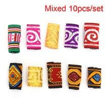 10 шт/лот разноцветные тканевые косички для волос дредлоки бусины