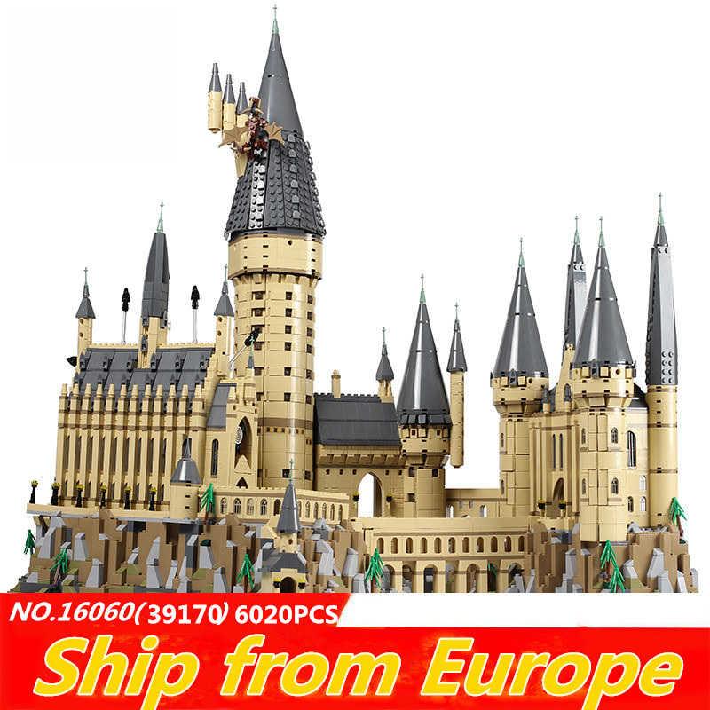 Lepinblocks 16060 16008 harry hogwarted magia filme castelo blocos de construção princesa 71043 71040 16005 rei tijolos cidade crianças brinquedos