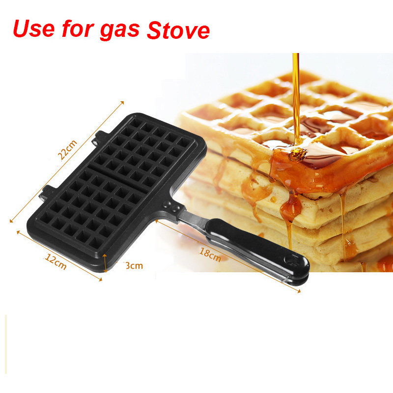 Portable Non Stick Waffle Maker Machine With Made Of Aluminum Alloy For Home Kitchen 2