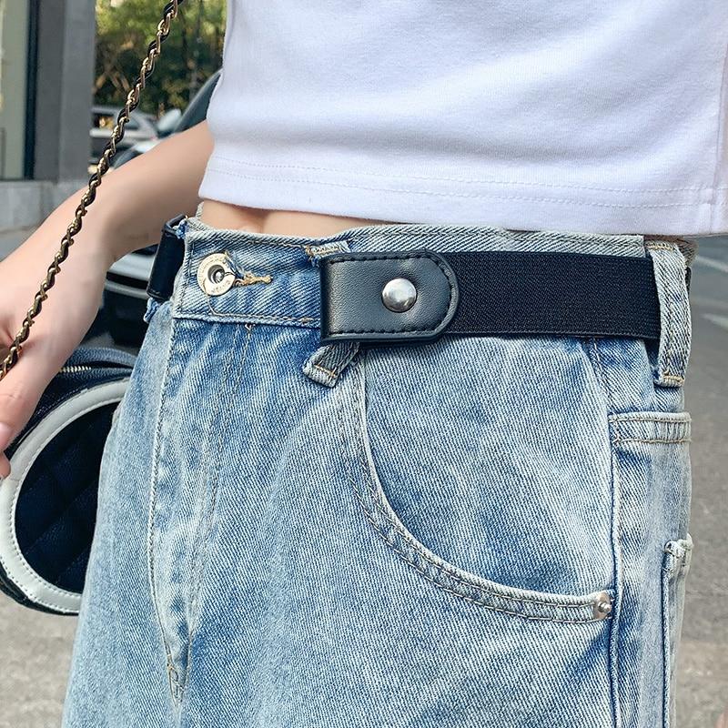 New Styles Buckle-Free Waist Belt for Jeans Pants,No Buckle Stretch Elastic Waist Belt for Women/Men,No Hassle Belt DropShipping