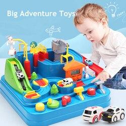 Детские игрушки на рельсах, гоночный поезд, треки, приключения, ручные автомобили, настольная игра, головоломки, игрушки для детей, дом, игра,...
