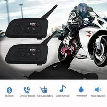 Superior inteligente capacete da motocicleta sem fio bluetooth interfone fone de ouvido de alta potência 6 pilotos 1200m à prova dgps água gps ou mp3