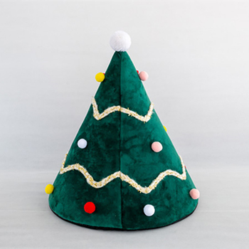Christmas Tree Dog Cat Warm Bed House