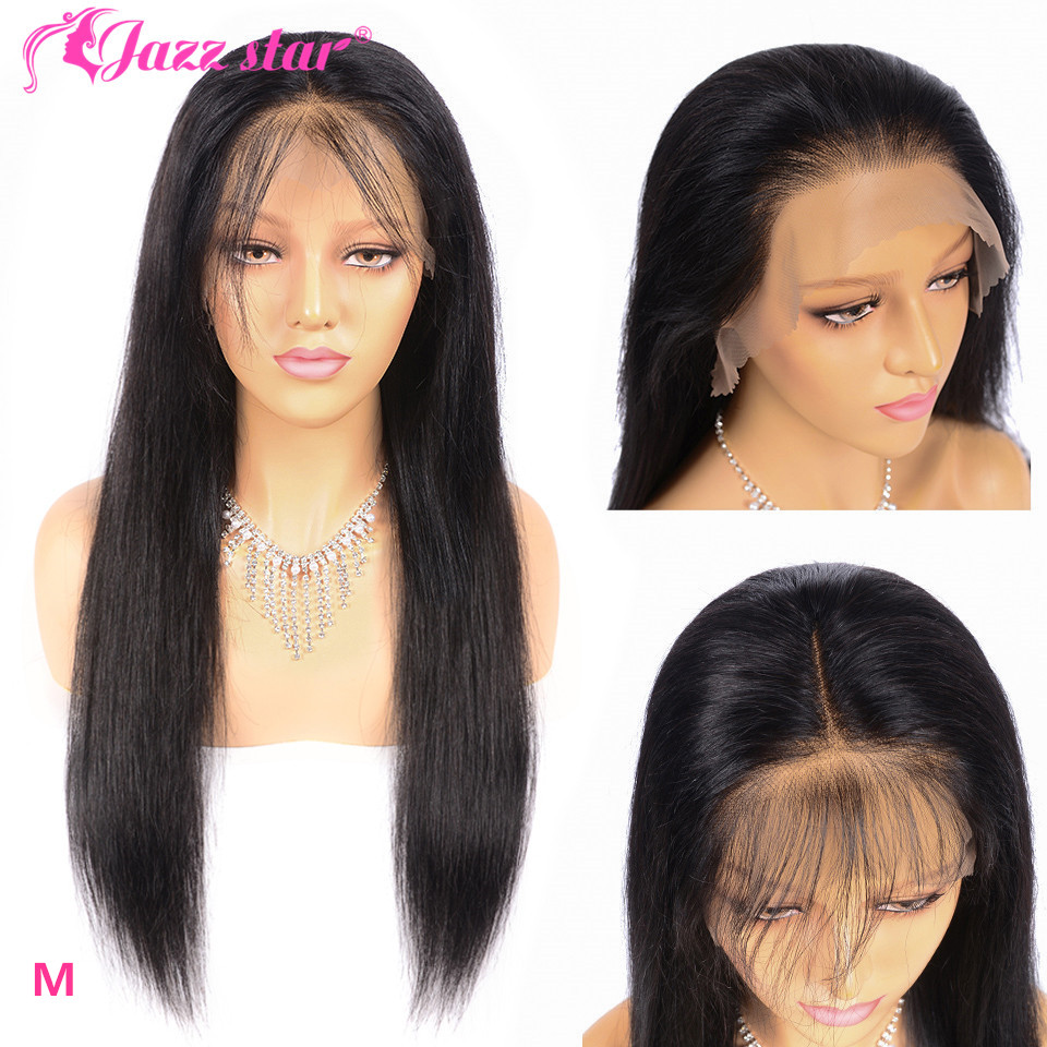 Brazilian Straight Lace Front Wig13*6/13*4 Lace Front Human Hair Wigs Pre-Plucked With Baby Hair Jazz Star Non-Remy 150% Density