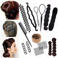 Multi Style DIY Hairstyle Tools Women Magic Donut Hair Bun Maker Braiding Twist Hair Clip Disk Pull Hairpins Hair Accessories