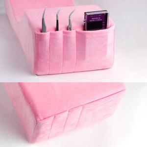 Image 3 - Almohada para extensión de pestañas, almohada de espuma de memoria y cubierta elástica para cama, sábana para injerto, herramienta de maquillaje para pestañas, salón de belleza