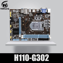 Материнская плата VEINEDA для настольных ПК H110 G302 LGA 1151 2xDDR3 MAX 32 ГБ PCI-E 1X 16X для Intel Core i7/i5/i3/cpu mATX(China)