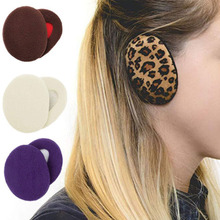 Head-Band Muffs Ear-Warmers Bandless Winter Fashion Soft Unisex Solid Behind Thicken