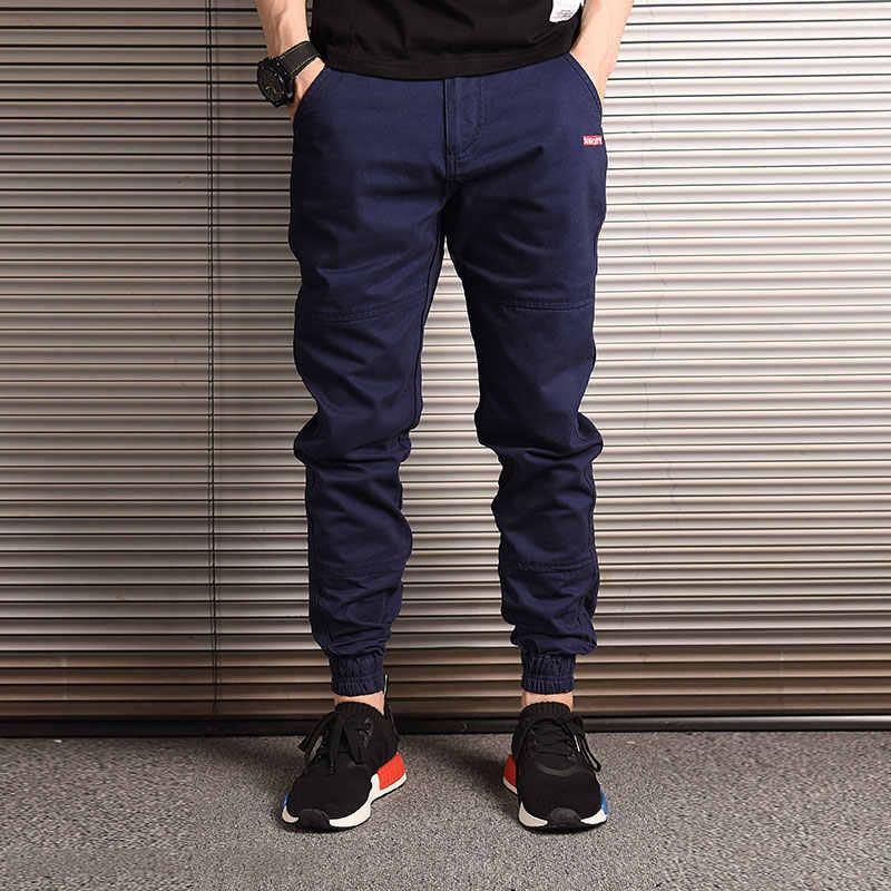 Fashion Streetwear Mannen Jeans Loose Fit Slack Bodem Casual Harem Broek Cargo Broek Mannen Japanse Stijl Hip Hop Joggers Broek