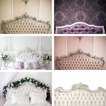 Mehofond Photography Background Boudoir Pink Tufted Headboard Baby Shower Wedding Birthday Photophone Backdrop Photo Stud image
