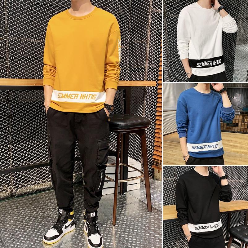 Autumn Patchwork Men 39 s Sweatshirts Printed Men 39 s Sweatshirts O Neck Long Sleeve Pullover Men 39 s Sweatshirts in Hoodies amp Sweatshirts from Men 39 s Clothing