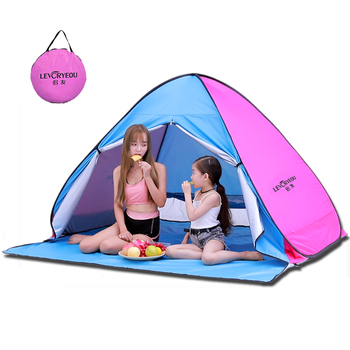 Beach Tent Pop Up Automatic Open Tent Family Ultralight Folding Tent Tourist Fish Camping Anti-UV Fully Sun Shade 3-4 person цена 2017