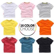 Детская футболка для девочек, летние хлопковые топы для маленьких мальчиков, футболки для малышей, одежда, детская одежда, футболки, летние футболки с короткими рукавами для детей 2-8 лет