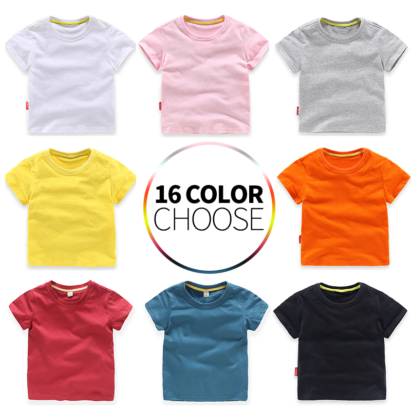 Kids Girl T Shirt Summer Baby Boy Cotton Tops Toddler Tees Clothes Children Clothing  T-shirts Short Sleeve Summer For 2-8 Years