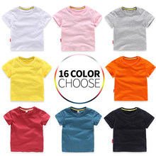 Kids Girl T Shirt Summer Baby Boy Cotton Tops Toddler Tees Clothes Children Clothing T-shirts Short Sleeve Summer for 2-8 Years(China)