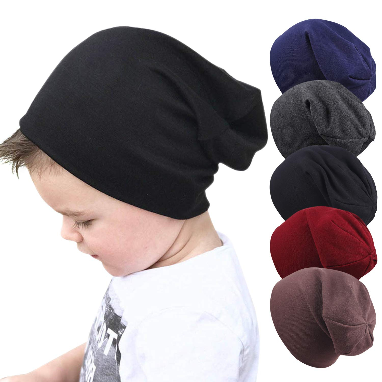 Xpeople Baby Beanie Kids Hat Newborn Toddler Girls Boys Cute Soft Unisex Cotton Lovely title=