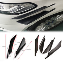 Evo carro Universal Faca de Combate Faca de Ar Do Carro Modificado Deflector de Ar Frente Car Bumper Spoiler Pp(China)