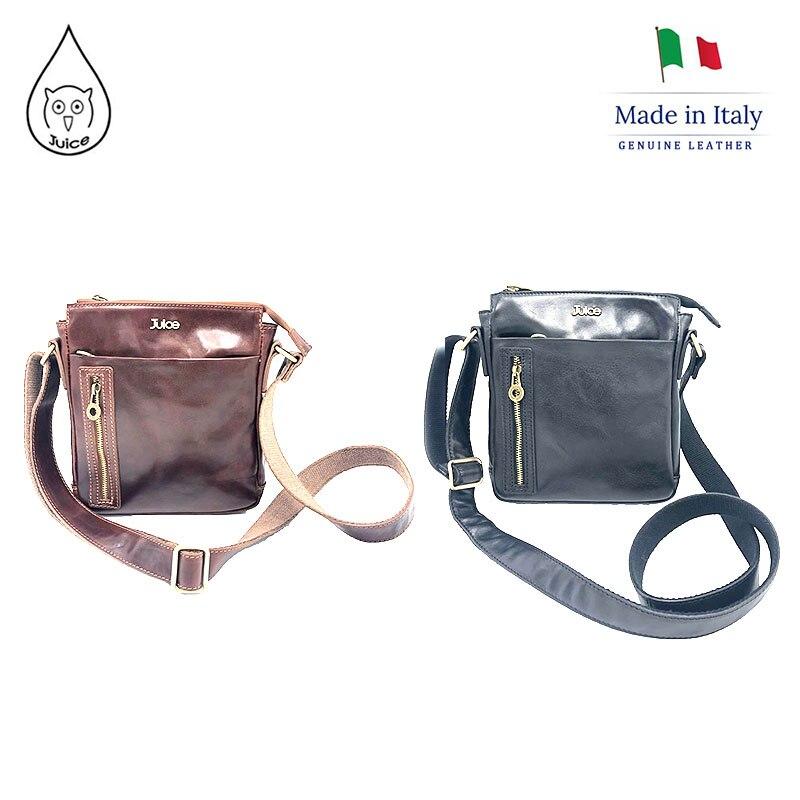 JUICE 2020 Spring,made In Italy, Genuine Leather Bag, Men Bag,men Cross Body/Shoulder Bags,Italian Cowhide,112225