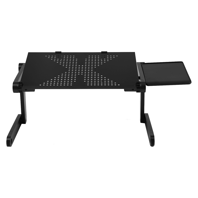 Купить с кэшбэком Portable Foldable Adjustable Laptop Desk Computer Table Stand Tray For Sofa Bed Black