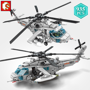 SEMBO City Police Technic Military Series Armed Helicopter Building Blocks AVIC Aircraft Bricks Toys Holiday Gift for Kids