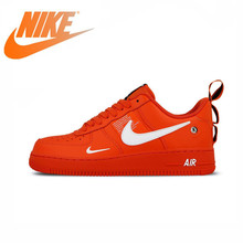 Original Authentic Nike Air Force 1 Af1 Mens Skateboarding Shoes New Fashion Outdoor Leisure Sport Red Trend Sneaker AJ7747-800