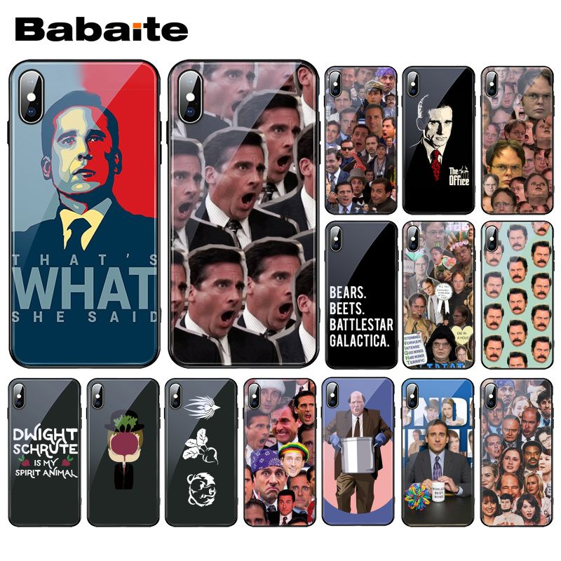 Babaite That's What She Said Michael Scott Tempered Glass Phone Case For iphone 11 Pro XS MAX XR 8 X 7 6S 6 Plus image