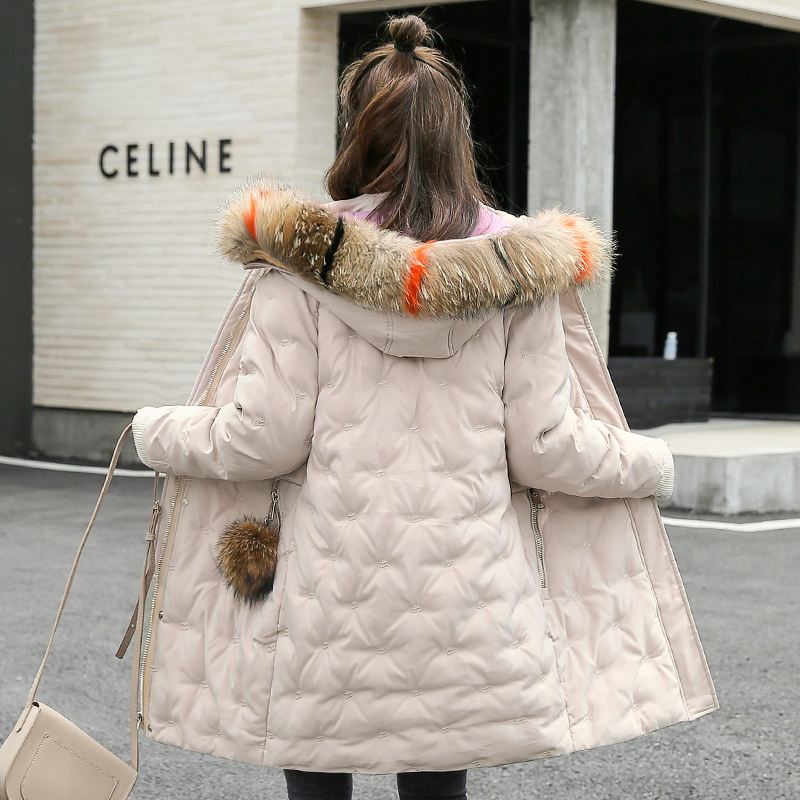 Women&39;s Jacket Large Size 2019 Female Long Hooded Fur Collar Parka_A8_9