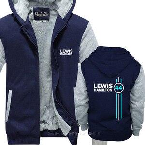 Image 4 - Lewis Hamilton 44 Mens del rivestimento di spessore autunno inverno di marca pullover per uomo cotone uomo top moda uomo top con cappuccio sbz5334