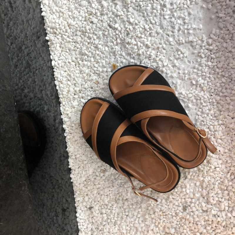 2019 nova plataforma grossa sola sandalias mujer 2019 confortável peep toe gladiador sandálias mulher verão sapatos planos praia chinelos