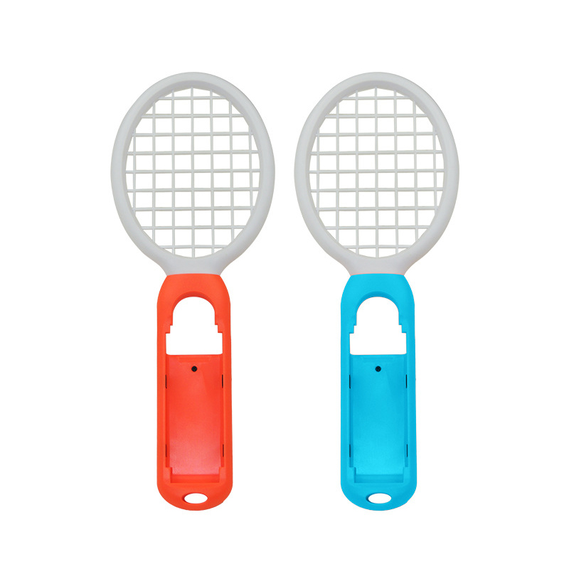 2 pcs 2 PCS Switch Mario Tennis Racket Handle Holder Gamepad Racket for Nintend Nintendo NS Joy-Con Somatosensory Game Controller Grip (2)