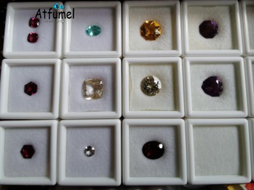 Купить с кэшбэком Sale Gemstone Box Soft Sponge Insert Diamond Jewelry Organizer Display Box Gem Storage Case Ring Earring Beads Stone Box 80Pcs