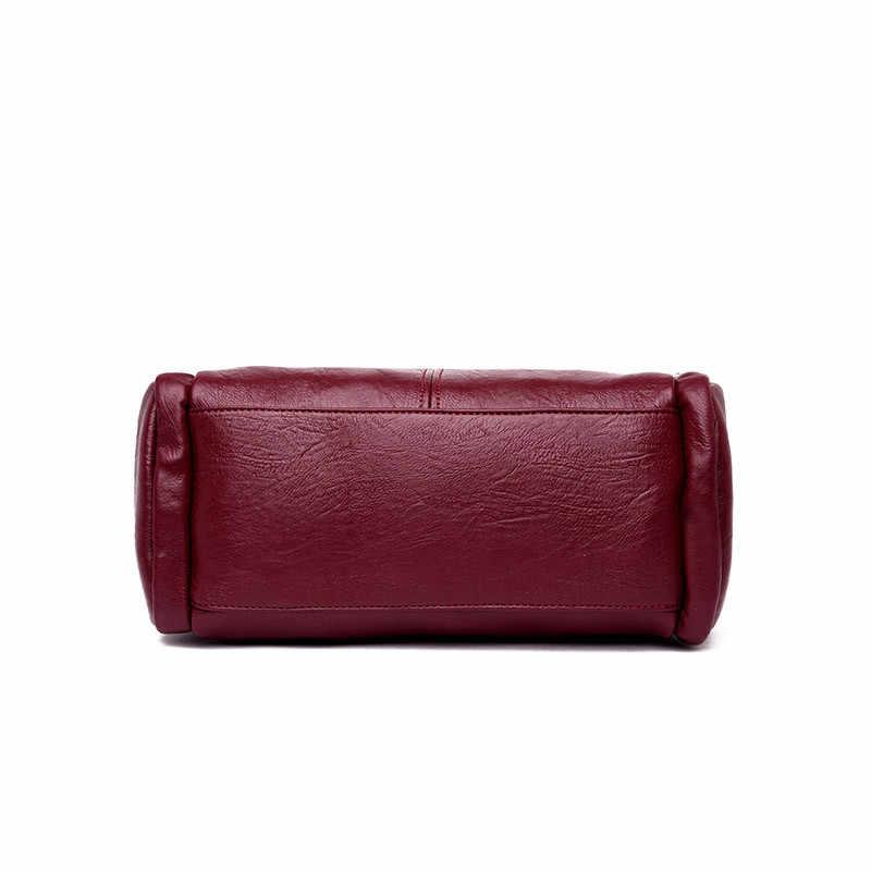 Bolso de mano Casual de cuero de lujo, Bolsos De Mujer, bolsos de diseñador, bolsos de mano cruzados de alta calidad para mujeres, bolso de mano para mujeres 2020