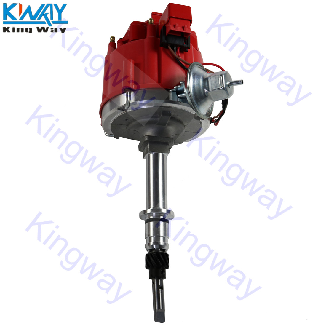 Distributor Inline 250 Chevy 6-Cylinder Ignition 6522R HEI For G-M Way-Red 230 292