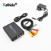 Conversor de vídeo HDMI a AV s video, adaptador conmutador de vídeo CVBS HD 3RCA PAL/Switch NTSC HDMI a SVIDEO + S para TV PC