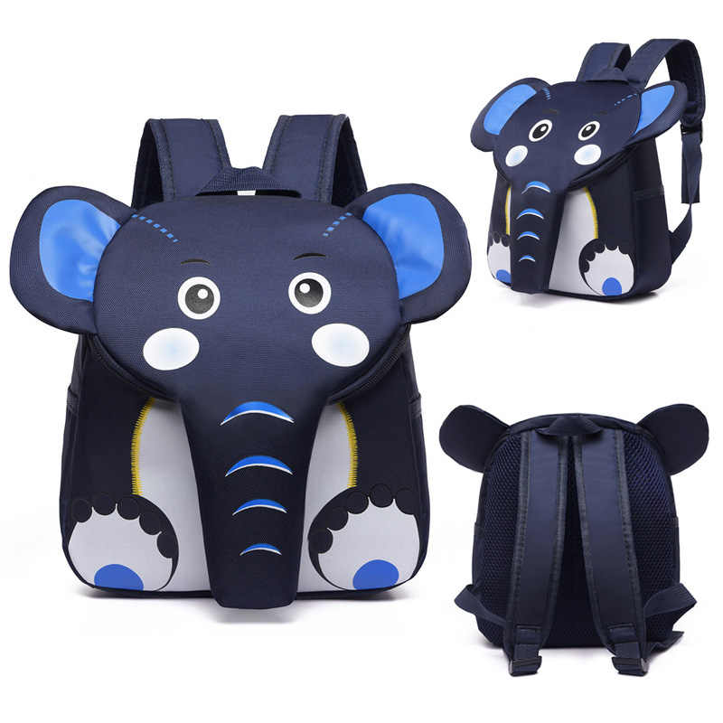 2019 Elephant School Backpack for Children Cute 3D Animal Designer Kids School Bags Boys Girls Schoolbag plecak szkolny