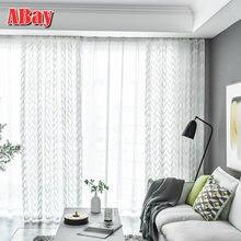 Белые прозрачные Занавески для гостиной вышитые задние занавески