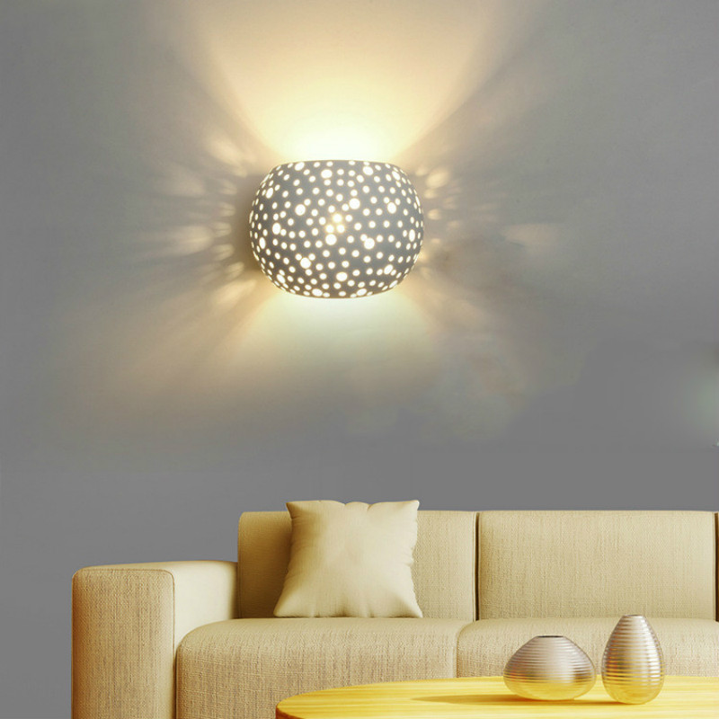 Modern Wall Lamp Simple Wall Lights Plaster Body Simple Wandlamp For Aisle Corridor Bedroom Light Fixtures Lamparas De Pared