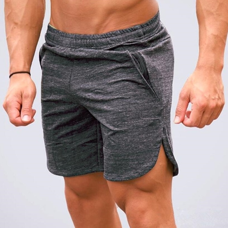 ZOGAA Summer Shorts Men's Sports Shorts Casual Running Beach Shorts Male Solid Loose Quick-drying Five Pants Fitness Soft Shorts