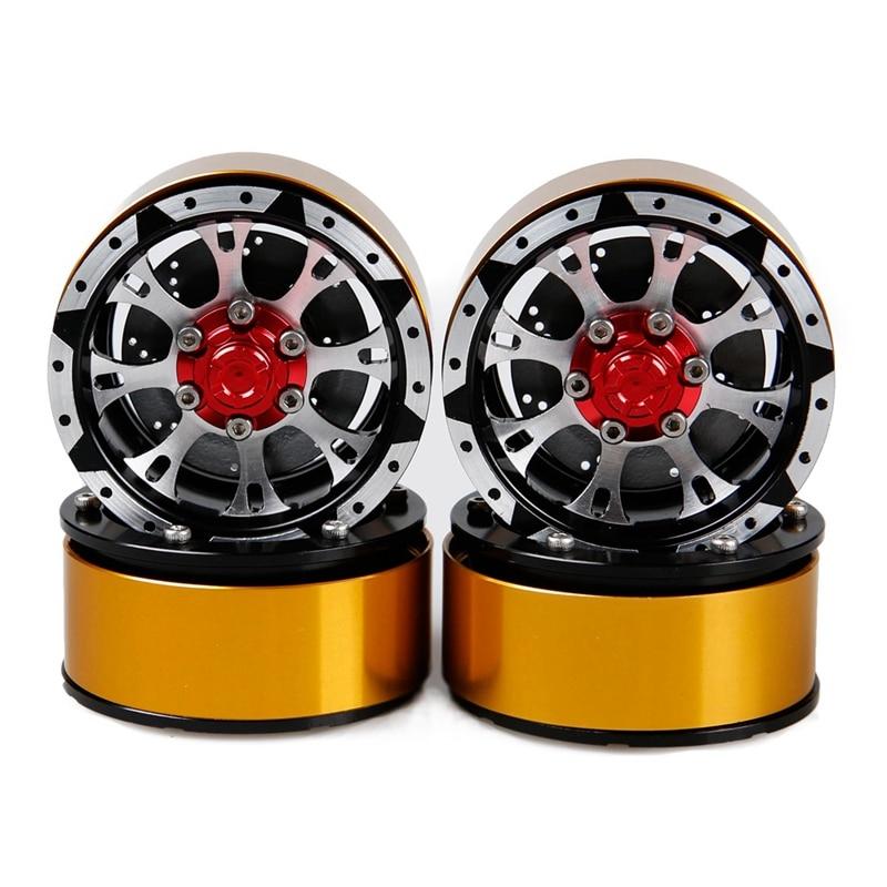 4PCS RC Crawler 1:10 Alloy Wheel Rim 1.9 Inch BEADLOCK for 1/10 Traxxas TRX4 Axial SCX10 TAMIYA CC01 D90 D110 TAMIYA фото