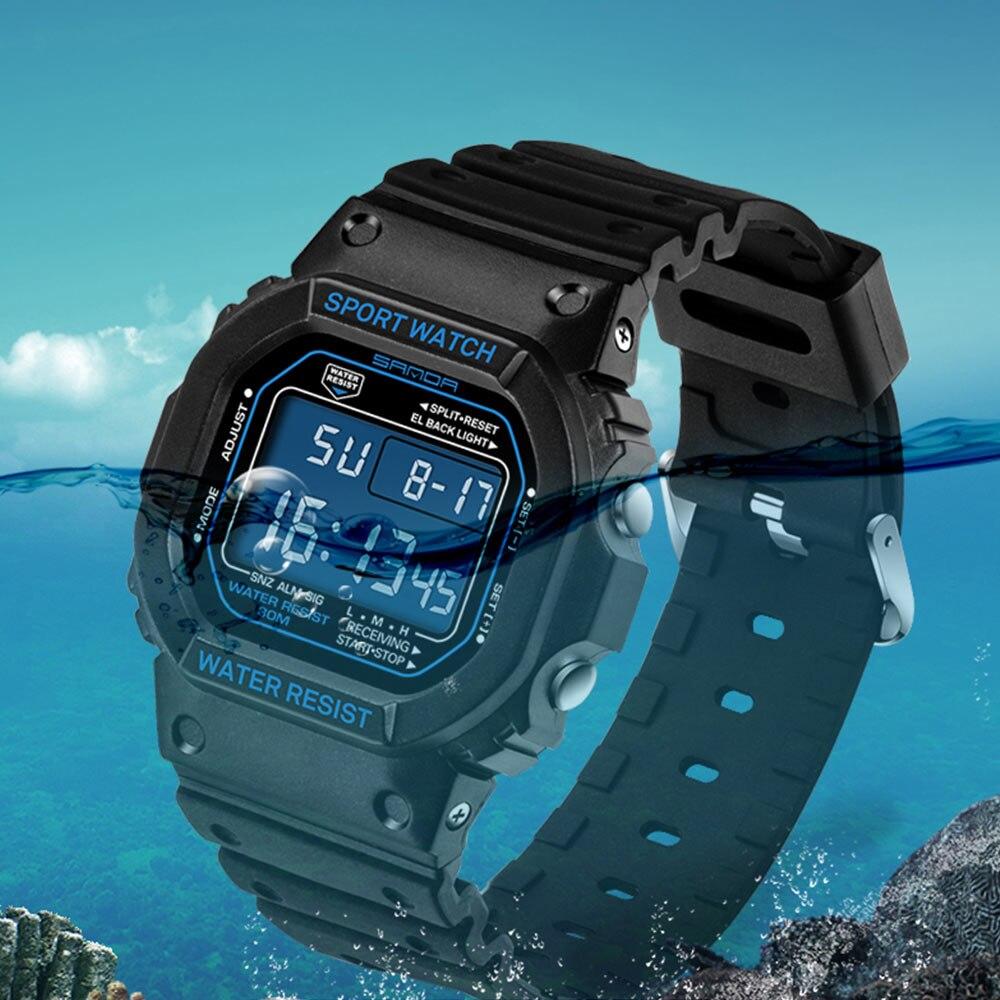 SANDA Fashion Professional Sports Watch Men Women Waterproof Military Watches Shock Men's Retro Analog Quartz Digital Watches