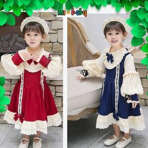 Платье Лолиты для девочек, весна 2020, детская одежда, оригинальное платье лолиты для маленьких девочек, пузырьковое платье на день рождения