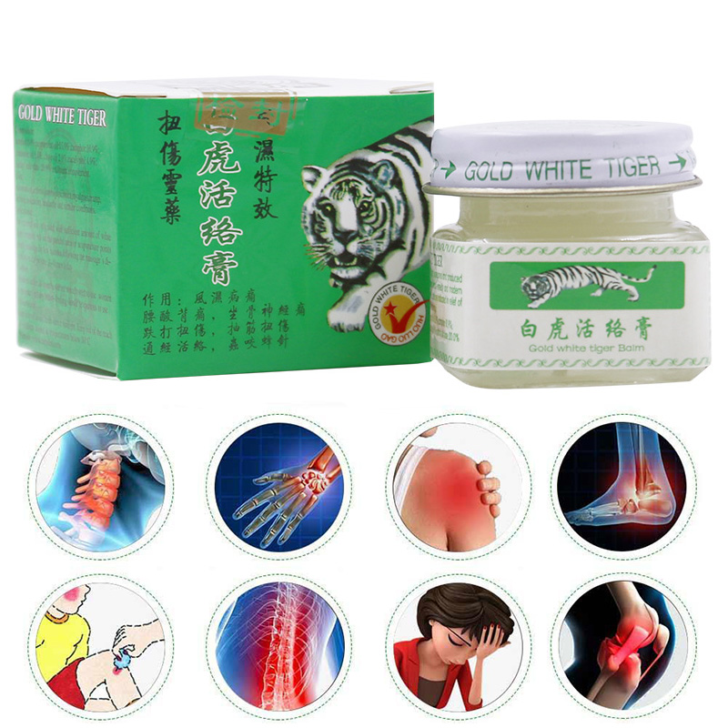 2pcs Vietnam 20g White Tiger Balm For Headache Toothache Stomachache Baume Tiger Blanc Cold Dizziness Essential Balm