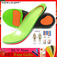 KOTLIKOFF High Quality EVA Orthotic Insole For Flat Feet Arch Support Orthopedic Shoes Sole Insoles For Men And Women Shoe Pads(China)