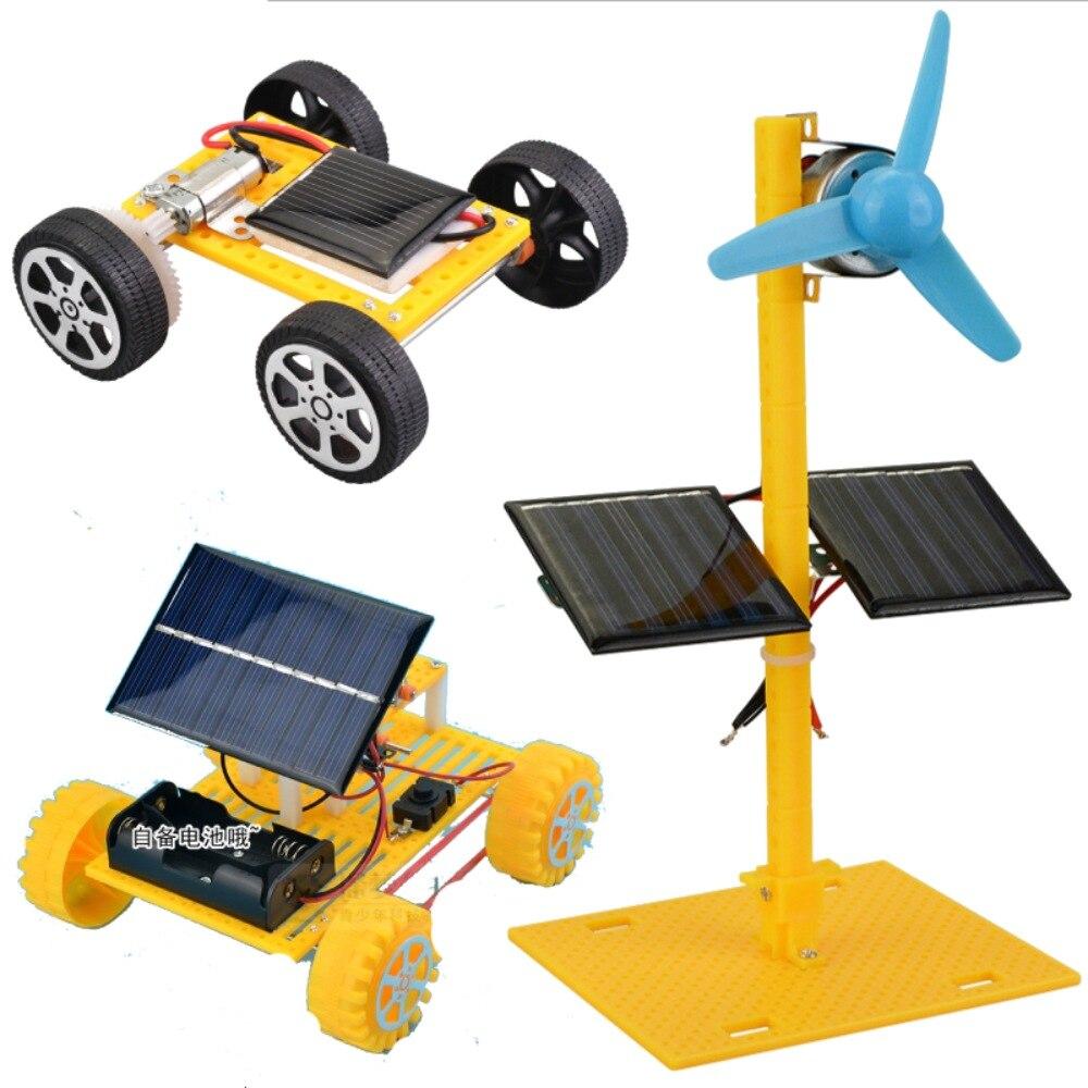 Mini energia solar conduzido carro diy ciência e tecnologia pequena invenção caule ciência educacional experimento aprendizagem brinquedos de laboratório